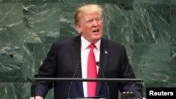 ԱՄՆ նախագահ Դոնալդ Թրամփը ելույթ է ունենում ՄԱԿ-ի Գլխավոր վեհաժողովում, սեպտեմբերի, 2019թ․