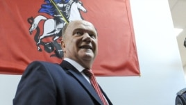 Communist Party leader Gennady Zyuganov says his supporters prevented an attempt at ballot-stuffing.