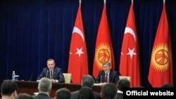 На итоговой пресс-конференции премьер-министра Турции и президента Кыргызстана