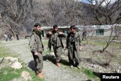 Боевики Рабочей партии Курдистана на севере Ирака. 2013 год
