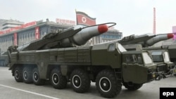 A North Korean Musudan missile (file photo)