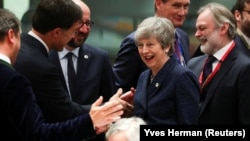 Theresa May, la o reuniune recentă a Consiliului European pe tema Brexitului