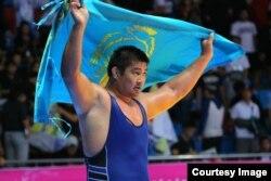 Грек-рим күресінен Азия ойындарының екі дүркін чемпионы Нұрмахан Тінәлиев. Инчхон, 3 қазан 2014 жыл.