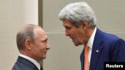Джон Керри с Владимиром Путиным, Китай, 5 сентября 2016