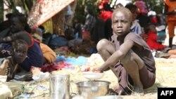 Жанубий Судандаги зўравонликлар туфайли кўчишга мажбур бўлган қочқинлар лагери.