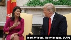 Haley u razgovoru sa Trumpom u Bijeloj kući