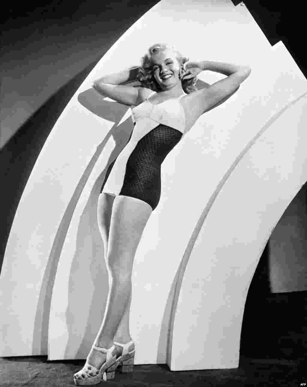 Marilyn Monroe showing off some swimwear in 1950. The actress also worked regularly as a model before she made her breakthrough as a Hollywood leading lady.