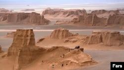 Loot desert in Iran's Kerman, Sistan-Baluchistan province.