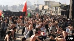 مراسم عاشورا در کابل پایخت افغانستان (عکس: Afp)