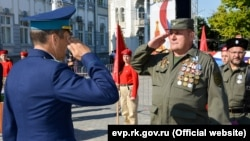 Награждение «народных ополченцев» в Евпатории