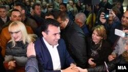 Избори 2016 - Претседателот на СДСМ, Зоран Заев на митинг во скопската општина Кисела вода.