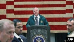 Afghanistan --US Secretary of Defense Robert Gates speaks at the US Embassy in Kabul, 09Dec2010