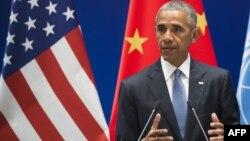АҚШ президенті Барак Обама. Ханчжоу, Қытай, 3 қыркүйек 2016 жыл.