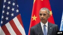 China -- președintele american Barack Obama după ce Statele Unite, alături de China s-au alăturat tratatului de la Paris privind schimbările climaterice, Hangzhou , 3 septembrie 2016