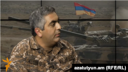 Armenia -- Defense Ministry spokesman Artsrun Hovannisian hosted in Azatutyun TV studio, Yerevan, 05Jun2016