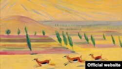 Գազելներ, Մարտիրոս Սարյան, կտավ, յուղաներկ, 46 x 61