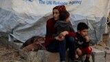 Түркиянын аскердик операциясынан качкан сириялыктар. Бардараш лагери, 17-октябрь, 2019-жыл.