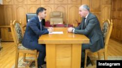 Глава Карачаево-Черкесии Рашид Темрезов на встрече с Эдуардом Деревым