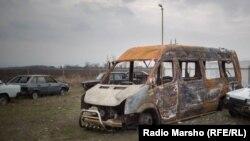 Зазадоккху-беттан 9-чохь зулмахоша ягийна гIалгIачун Плиев Баширан микроавтобус.