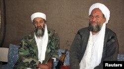 Osama bin Laden və onun köməkçisi Ayman al-Zawahri