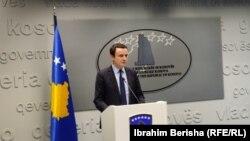 Косовскиот премиер Албин Курти