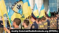 Azow batalionynyň ýene ýolbaşçysynyň jaýlanyş çäresi, Kiýew, 8-nji iýul, 2015