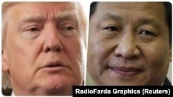 Президент США Дональд Трамп і голова КНР Сі Цзіньпін, фотоколаж