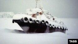 Donmuş gəmi. Şmidt burnu