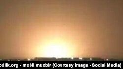 Взрыв на газовой магистрали близ Ташкента, 24 августа 2015 года.