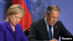 Russian Foreign Minister Sergei Lavrov is scheduled to meet with U.S. President Barack Obama and Secretary of State Hillary Clinton in Washington.