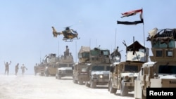 Pjesëtarët e forcave të sigurisë së Irakut në provincën Anbar