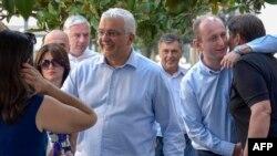 Andrija Mandić, lider DF prošle sedmice prilikom dolaska na sud za aferu 'državni udar'
