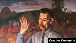 Портрет Максима Горького работы Бориса Григорьева. 1926 год