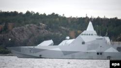 Шведский корвет, принимавший участие в поисках неизвестной подлодки