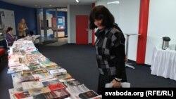 Людміла Лебедзь на Зьезьдзе ТБМ у Менску, 2 лістапада 2014