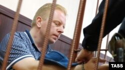 Генеральный директорРоссийского авторского обществаСергей Федотов в суде. Москва, 28 июня 2016 года.
