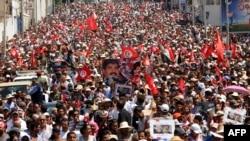 Траурная процессия в Тунисе