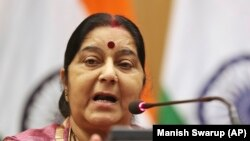 Ministrja e Jashtme e Indisë, Sushma Swaraj.