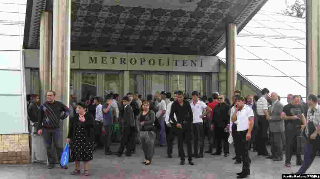 Bakı. Metronun İçəri Şəhər stansiyası