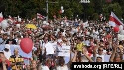 «Марш свабоды» ў Горадні 16 жніўня 2020 г.