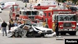 ԱՄՆ - Կապիտոլիումի մոտ տեղի ունեցած միջադեպի հետևանքով վթարված ոստիկանության ավտոմեքենաներից մեկը, Վաշինգտոն, 3-ը հոկտեմների, 2013թ․