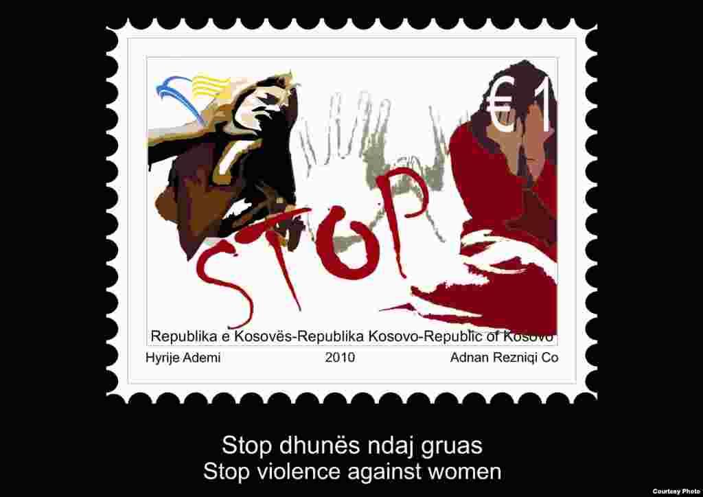 """Kosovë - pulla postare me thirrjen """"Stop dhunës ndaj gruas""""..."""