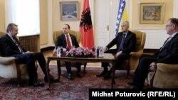 Presidenti i Shqipërisë, Bujar Nishani, gjatë vizitës në Sarajevë, 24 shkurt 2016.