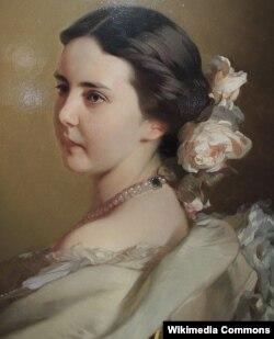 Yekaterina Tütçevanın portreti, 1850-ci illərin ortaları. Rəssam İvan Makarov