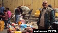 باعة على الأرصفة في سوق الشورجة ببغداد