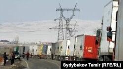 На кыргызстанско-казахстанской границе. Архивное фото.