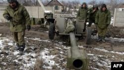 Озброєні сепаратисти біля Вуглегірська (фото з архіву)