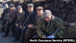 Жители дагестанского села Куруш