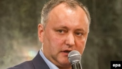 Moldova's Socialist Party chairman Igor Dodon (file photo)