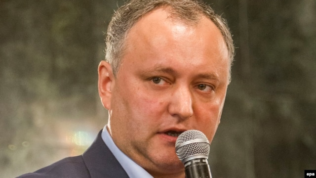 Moldovan Socialist Party leader Igor Dodon (file photo)